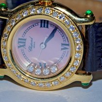 Chopard Happy Sport Yellow gold 26mm Pink Roman numerals United States of America, New York, NEW YORK CITY
