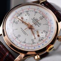 Atlantic Chronograaf 36mm Handopwind 1950 tweedehands Zilver