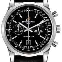 Breitling Transocean Chronograph 38 Steel 38mm Black United States of America, California, Moorpark
