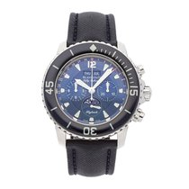 Blancpain Fifty Fathoms Steel 45mm Blue No numerals