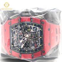 Richard Mille RM 011 Włókno węglowe 49.94mm Przezroczysty Arabskie