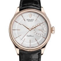 Rolex Cellini Date Rózsaarany 39mm Ezüst Számjegyek nélkül