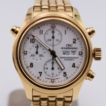 IWC Pilot Double Chronograph Yellow gold 42mm White Arabic numerals United States of America, Texas, Houston