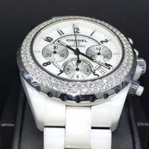 Chanel J12 pre-owned 41mm White Chronograph Date Ceramic