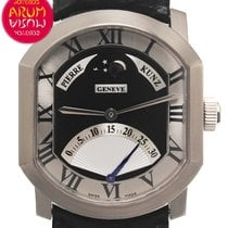 Pierre Kunz White gold Automatic Black 36,5mm pre-owned