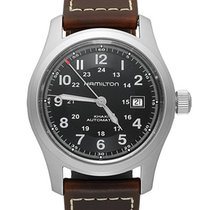 Hamilton KHAKI FIELD AUTO Steel-Black Dial-Brown Leather Strap...