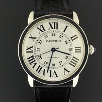 Cartier Ronde Solo XL 42mm W6701010 Steel Leather Band...