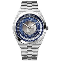 Vacheron Constantin Overseas World Time Acier 43.5mm Bleu