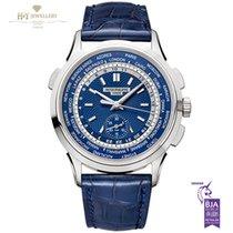 Patek Philippe World Time Chronograph White gold 39.5mm Blue No numerals United Kingdom, London