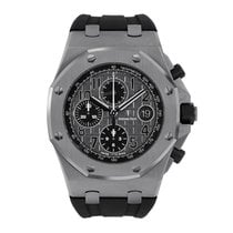 Audemars Piguet Royal Oak Offshore Chronograph Stål 42mm Grå Arabisk