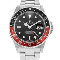 Rolex s/steel black dial/bez GMT II