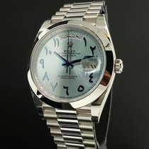 Rolex Day-Date 40 Platina 40mm Modrá