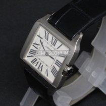 Cartier 31mm Quartz 2010 použité Santos Dumont Bílá