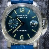 Panerai Luminor Marina Automatic Steel 40mm Blue Arabic numerals