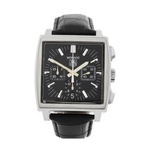 TAG Heuer 38mm Automatic 2000 pre-owned Monaco (Submodel) Black