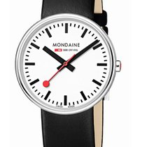Mondaine Aço 35mm Quartzo A763.30362.11SBB MONDAINE GIANT SPECIALS Bianco Nero 35mm novo