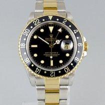 Rolex GMT-Master II Goud/Staal 40mm Zwart Geen cijfers