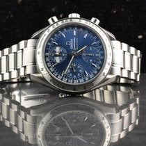 Omega Speedmaster Day Date Steel 39mm Blue No numerals