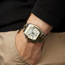 Cartier Roadster Gold/Steel 43mm White Roman numerals