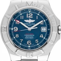Breitling Colt GMT+ Steel 41mm Blue Arabic numerals