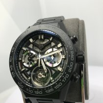 TAG Heuer Carrera Heuer-02T Ceramic 45mm Black No numerals