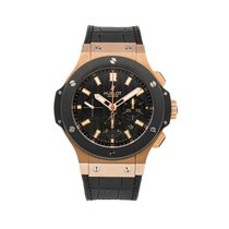 Hublot Big Bang 44 mm Roségull 44mm Svart Arabisk