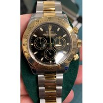 Rolex Daytona Gold/Steel 40mm Black No numerals