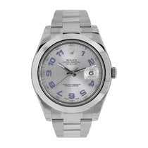 Rolex Datejust II 41 Stainless Steel Grey Arabic Dial Watch...