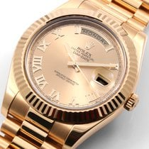 勞力士 (Rolex) Rolex 18k Day-Date ll 41mm Champ Roman 218238 -...