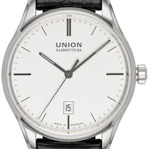 Union Glashütte Viro Date Otel 41,00mm Alb