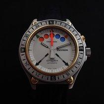 Lemania Chronograph 43mm Automatik 1975 gebraucht Silber