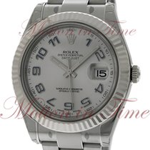Rolex Datejust II 41mm, Grey Dial, 18kt White Gold Fluted...