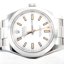 Rolex Mens 116400 Milgauss - White Dial - Oyster Band - Mint...