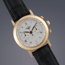 Longines Ernest Francillon 18ct yellow gold manual chronograph...