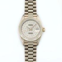 Rolex Lady-Datejust 18K Solid White Gold Automatic Diamonds