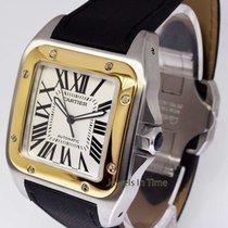 Cartier Santos 100 18k Yellow Gold & Steel Mens Automatic...