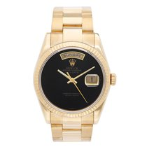 Rolex President Day-Date Men's Watch 118238 Black Onyx dial