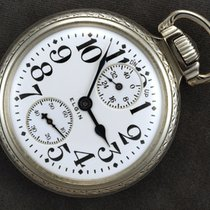 Elgin new Manual winding Small Seconds Power Reserve Display Only Original Parts 52mm White gold Glass