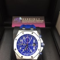 Audemars Piguet Royal Oak Offshore Chronograph Stål 42mm Blå Arabisk