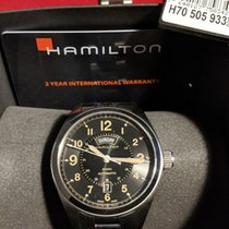Hamilton Khaki Field Day Date pre-owned 42mm Steel