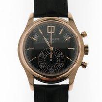 Patek Philippe Annual Calendar Chronograph Roségoud 40mm Zwart Geen cijfers