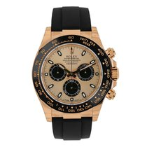 Rolex Daytona 18K Rose Gold Ceramic Oysterflex Watch 116515LN