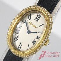 Cartier gebraucht Handaufzug 33,0mm Champagnerfarben Plexiglas