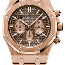 Audemars Piguet Royal Oak Chronograph Rose gold 41mm Brown No numerals United States of America, Iowa, Des Moines