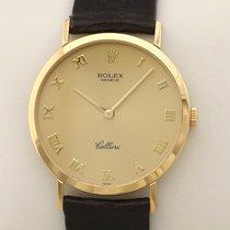 Rolex Cellini Yellow gold 32mm Gold Roman numerals