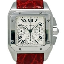 Cartier W20090X8 Steel 2004 Santos 100 42mm pre-owned United States of America, Florida, Miami
