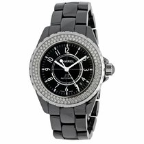 Chanel J12 pre-owned 38mm Black Date Ceramic