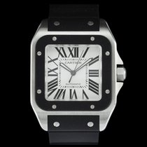Cartier Santos 100 pre-owned 40mm Rubber