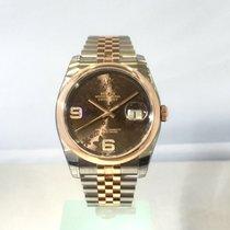 Rolex Datejust Gold/Stahl 36mm Braun Arabisch Deutschland, Bietigheim-Bissingen