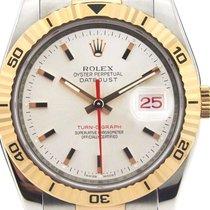 Rolex Datejust Turn-O-Graph Gold/Stahl 36mm Silber Keine Ziffern
